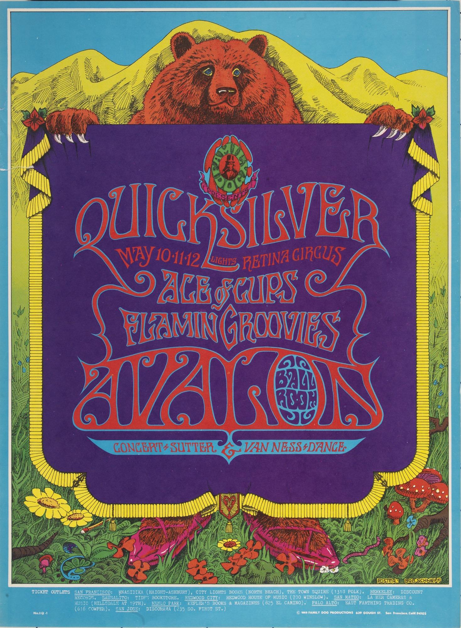 Image for Dancing Bear (Quicksilver Messenger Service, Ace of Cups...Avalon Ballroom, San Francisco, California 5/10/68-5/12/68)