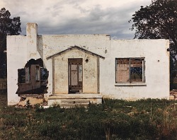 Exterior view of a house near Las Vegas, eastern New Mexico, July 21, 1990
