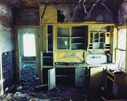 Kitchen in a house in Ludlow, eastern Colorado, July 6, 1999