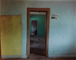 Hallway view through a house in Ocate, eastern New Mexico, August 31, 1991