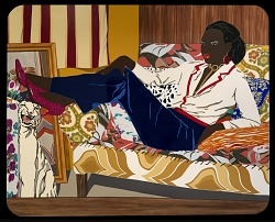Exploring Mickalene Thomas's Portrait of Mnonja