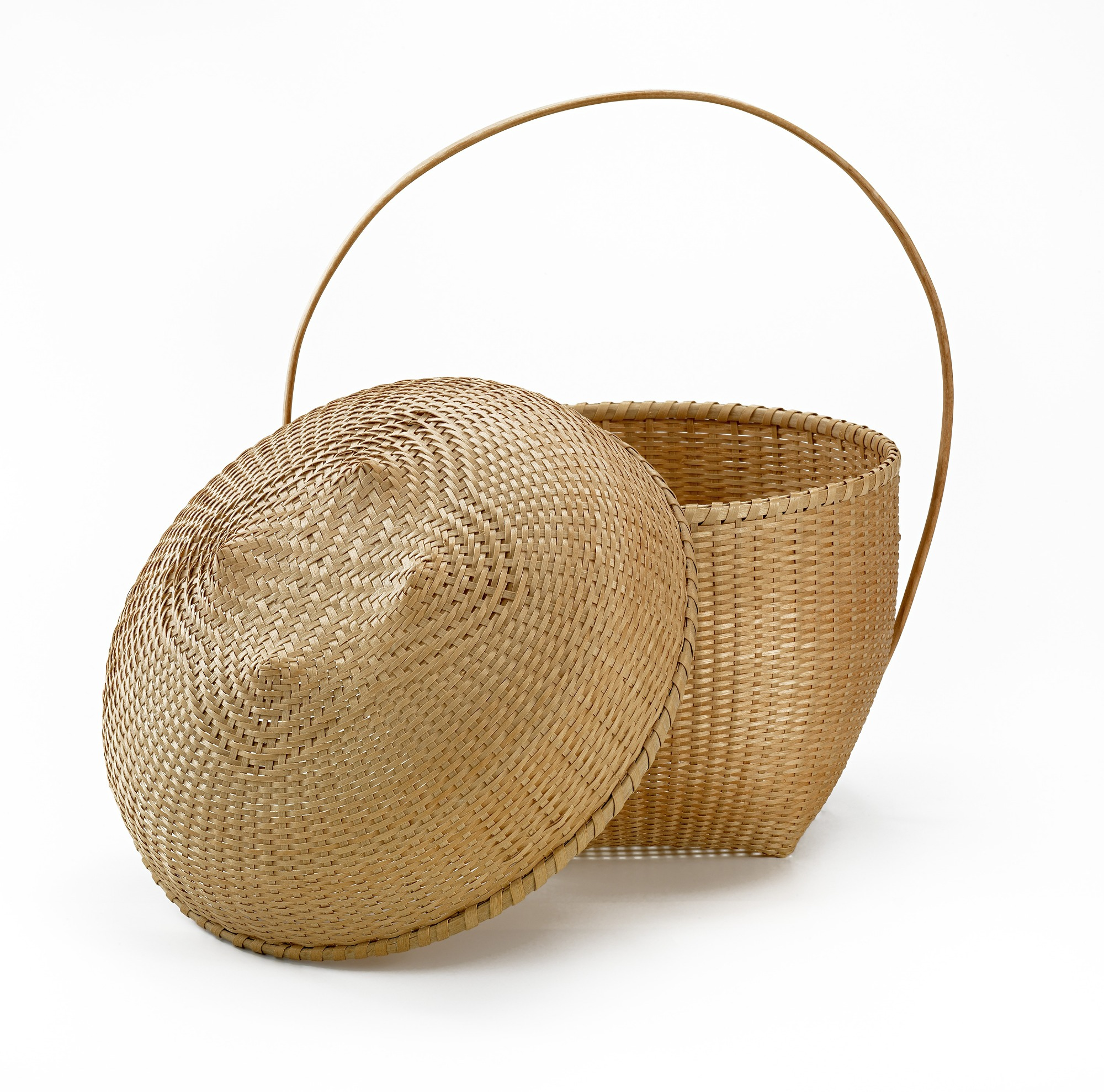 images for Quatrefoil Lidded Shaker Cat Head Basket with Handle