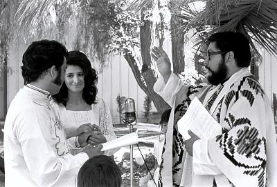 Wedding of Monica Medina and Gilbert Salazar, CSUN Students, in Calabasas, California