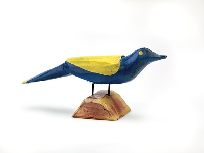 Untitled (Blue and Yellow Bird)