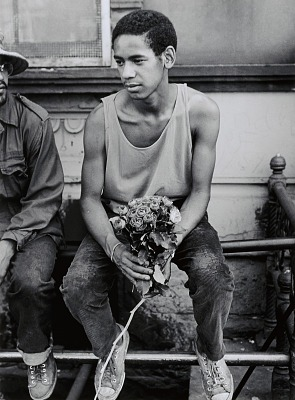 Young Man with Roses