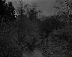 Untitled #18 (Creek and House) from series Night Coming Tenderly, Black
