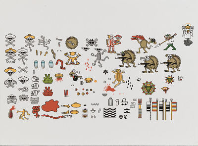 Index of figural archetypes and recurring pattern ornamentation