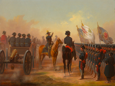 Review of Rhode Island and Maine Troops