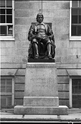 John Harvard Memorial [sculpture] / (photographed by Bernie Cleff)