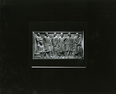 The Frederick W. Scumacher Frieze (detail of west panel) [sculpture] / (photographed by Peter A. Juley & Son)
