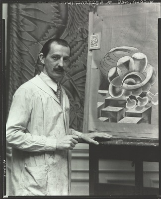 Kimon Nicolaides in his studio [photograph] / (photographed by Peter A. Juley & Son)