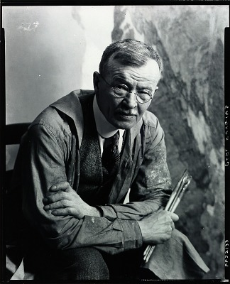 Carl Rungius in his studio [photograph] / (photographed by Peter A. Juley & Son)