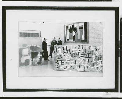 Mark Rothko, Robert Motherwell and Bradley Walker Tomlin at the Rockefeller Guest House, 1951 [photograph] / (photographed by Peter A. Juley & Son)