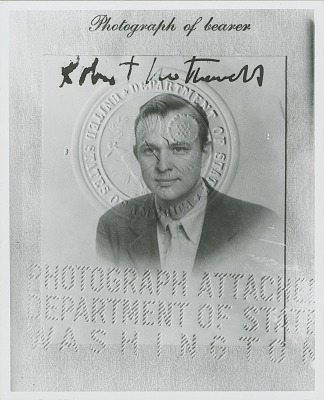 Photograph of Robert Motherwell's passport [photograph] / (photographed by Peter A. Juley & Son)