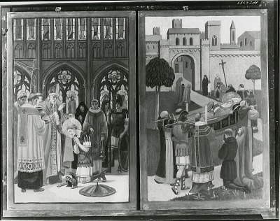 Altarpiece for St. Martin's Episcopal Church, Providence, Rhode Island (right and left lower small panels ) [painting] / (photographed by Peter A. Juley & Son)