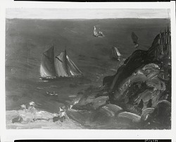 Ships at Sea [painting] / (photographed by Peter A. Juley & Son)