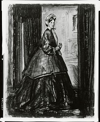 Lady of 1860 [drawing] / (photographed by Peter A. Juley & Son)