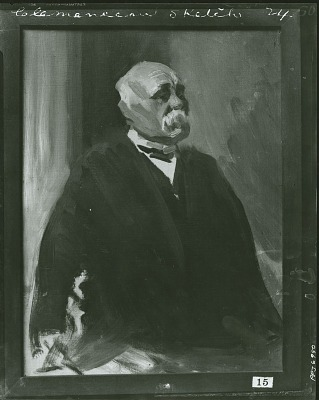 Study for Georges Clemenceau [painting] / (photographed by Peter A. Juley & Son)