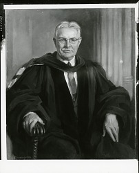 Wright, Quincy, Professor [painting] / (photographed by Peter A. Juley & Son)