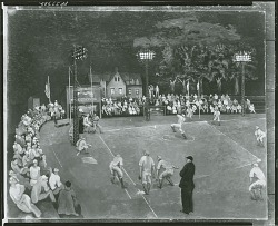 Baseball at Night, [painting] / (photographed by Peter A. Juley & Son)