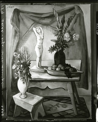 Still Life with Sculpture [painting] / (photographed by Peter A. Juley & Son)