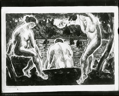Bathers [painting] / (photographed by Peter A. Juley & Son)