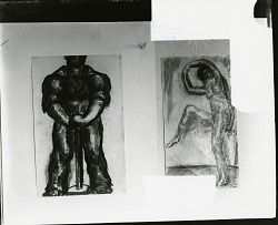 The Man of Iron and Standing Female Figure [drawing] / (photographed by Peter A. Juley & Son)