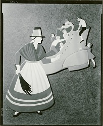 Nursery Rhyme Cutout: There was an Old Woman Who Lived in a Shoe [sculpture] / (photographed by Walter J. Russell)