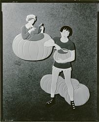 Nursery Rhyme Cutout: Peter, Peter Pumkin-Eater [sculpture] / (photographed by Walter J. Russell)
