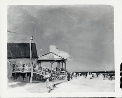 Beach at Far Rockaway [painting] / (photographed by Peter A. Juley & Son)