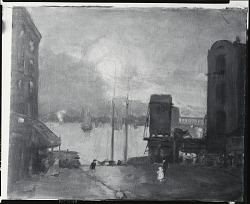 Cumulus Clouds, East River [painting] / (photographed by Peter A. Juley & Son)
