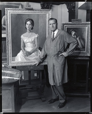 A. Henry Nordhausen in his studio [photograph] / (photographed by Peter A. Juley & Son)
