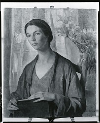 Young Woman with Lilies [painting] / (photographed by Peter A. Juley & Son)