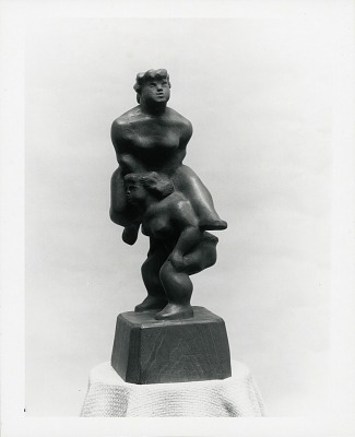 Two Acrobats [sculpture] / (photographed by Peter A. Juley & Son)