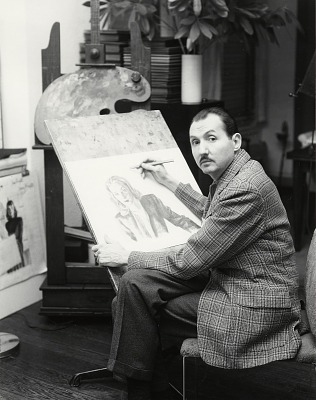 Walter Klett in his studio [photograph] / (photographed by Peter A. Juley & Son)
