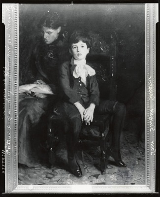 Homer Saint-Gaudens and his Mother [painting] / (photographed by Peter A. Juley & Son)