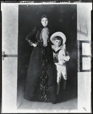 Mrs. Edward Davis and her Son Livingston [painting] / (photographed by Peter A. Juley & Son)