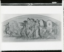 Sketch for Westward Movement: Justice of the Plains [drawing] / (photographed by Peter A. Juley & Son)