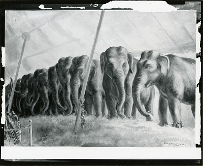 Circus Elephants [painting] / (photographed by Peter A. Juley & Son)