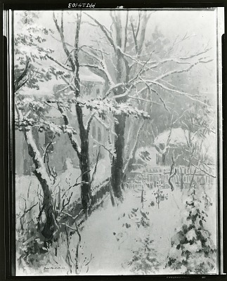 Winter in Weimar [painting] / (photographed by Peter A. Juley & Son)