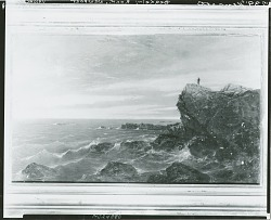 Berkeley Rock at Newport [painting] / (photographed by Peter A. Juley & Son)