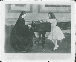 At the Piano [painting] / (photographed by Peter A. Juley & Son)