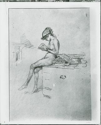 The Little Nude Model, Reading [graphic arts] / (photographed by Peter A. Juley & Son)