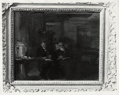 My Two Friends, Robert Henri and John Butler Yeats [painting] / (photographed by Peter A. Juley & Son)
