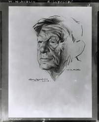 W. H. Auden [drawing] / (photographed by Peter A. Juley & Son)