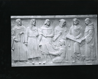 The Frederick W. Schumacher Frieze (detail of east panel) [sculpture] / (photographed by Peter A. Juley & Son)