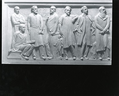 The Frederick W. Schumacher Frieze (detail of west panel) [sculpture] / (photographed by Peter A. Juley & Son)