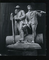 Lumberman's Monument [sculpture] / (photographed by Peter A. Juley & Son)