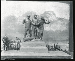 Model for Lumberman's Monument [sculpture] / (photographed by Peter A. Juley & Son)