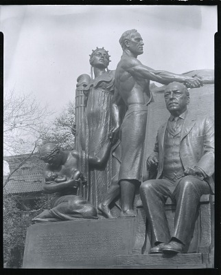 Samuel Gompers Memorial (detail) [sculpture] / (photographed by Peter A. Juley & Son)